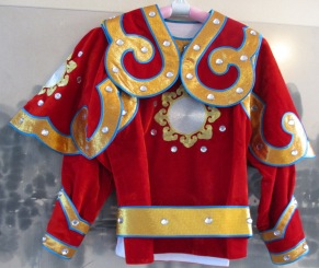Mulan armour jacket with shoulder cape and belt